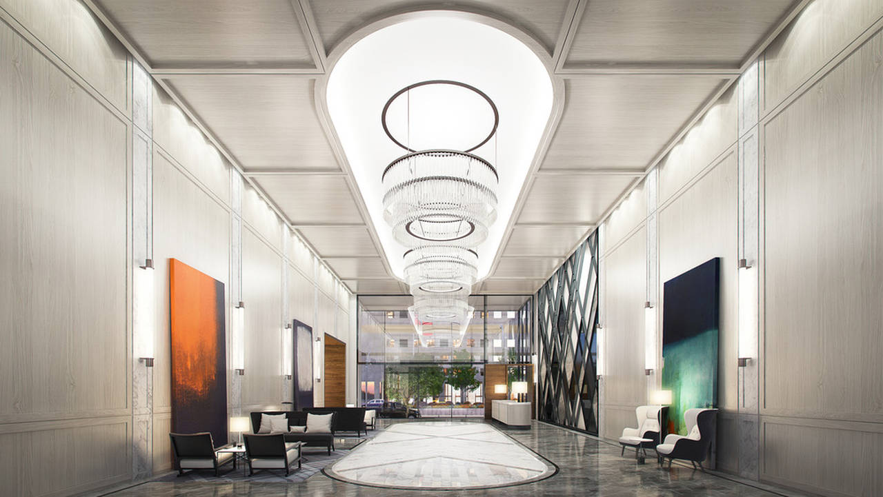 The Residences of 488 University Avenue Lobby : Photo credit © Norm Li Architectural Graphics