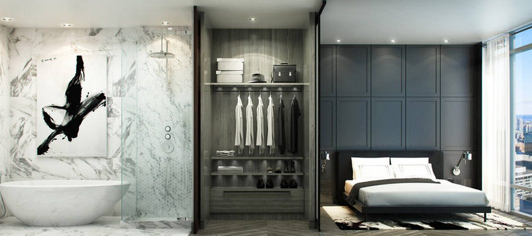 The Residences of 488 University Avenue Suite : Photo credit © Norm Li Architectural Graphics