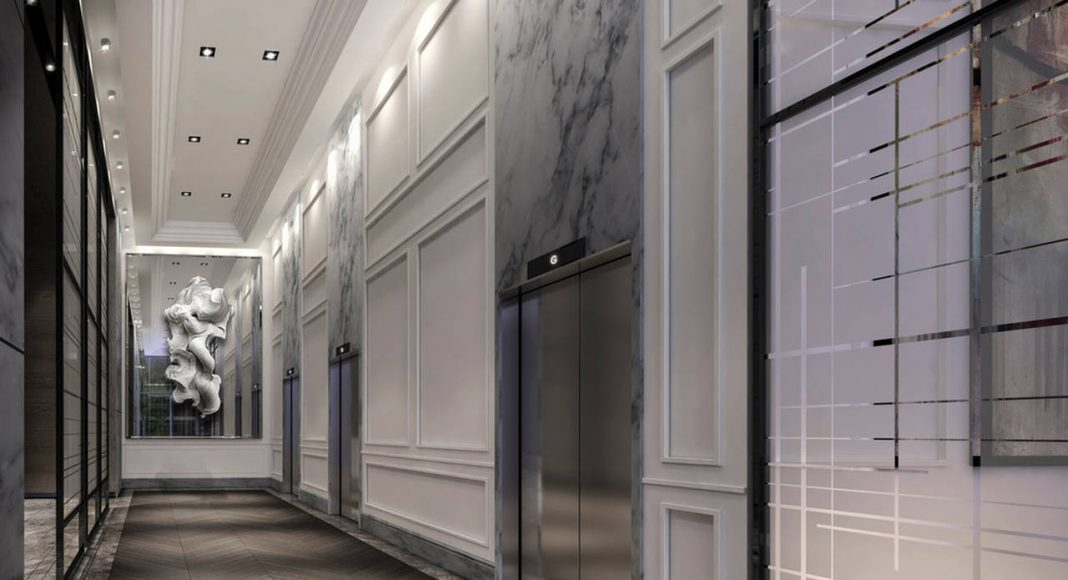 The Jack Elevator Lobby : Photo credit © Norm Li Architectural Graphics