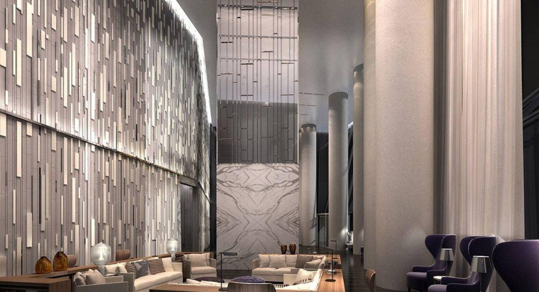 Ten York Lobby Lounge : Photo credit © Norm Li Architectural Graphics