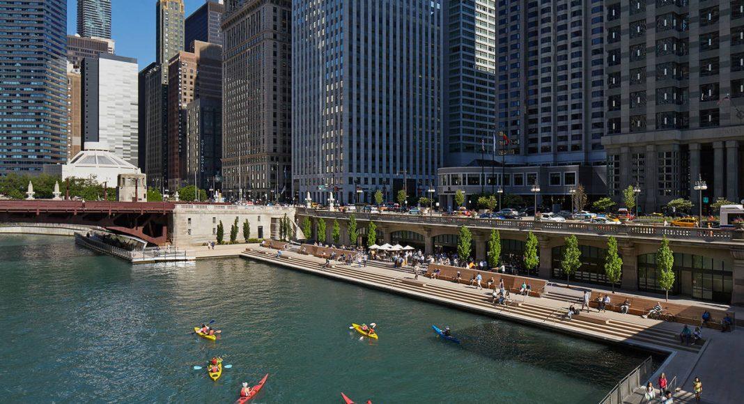 Chicago Riverwalk by Ross Barney Architects : Photo © Kate Joyce Studios
