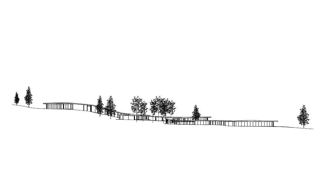 Grace Farms by SANAA Overall Elevation : Drawing © SANAA