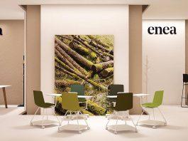 Stand de ENEA para el evento Orgatec edición 2016 en Colonia, Alemania Vista Lateral : Fotografía © ENEA