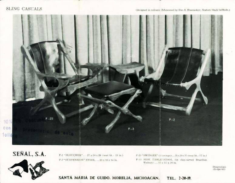 Sillón SLING diseñado por el destacado diseñador del Modernismo Mexicano Don Shoemaker, 1960 : Fotografía cortesía de © MASISA