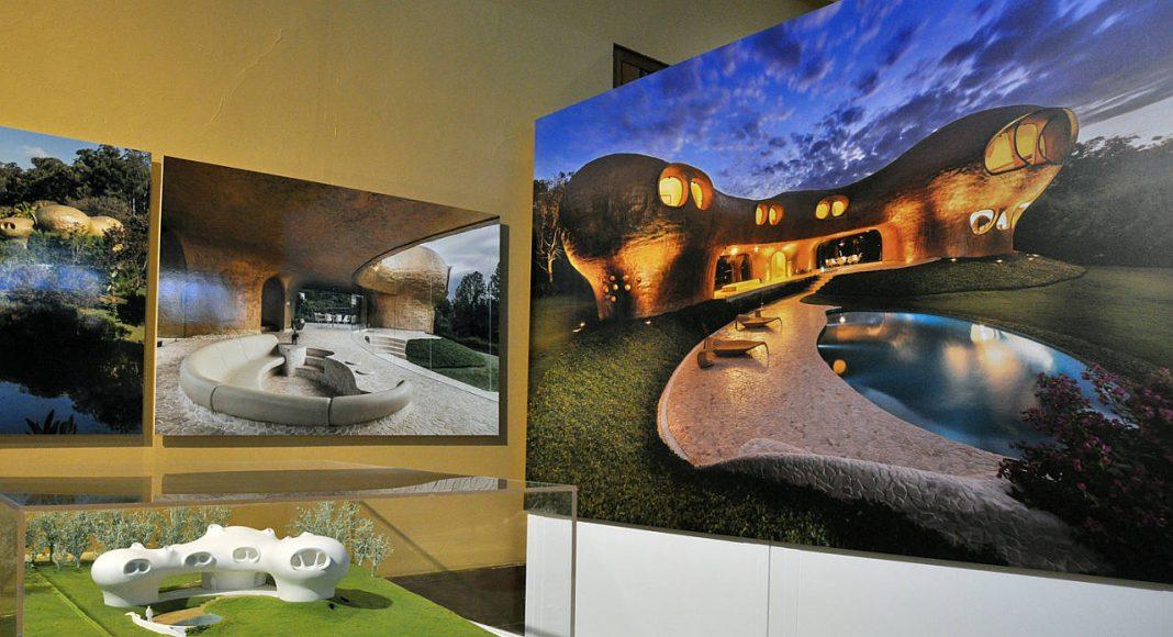 Exposición Javier Senosiain. Arquitectura orgánica, en el Museo Nacional de Arquitectura : Fotografía cortesía de © JVL Conaculta