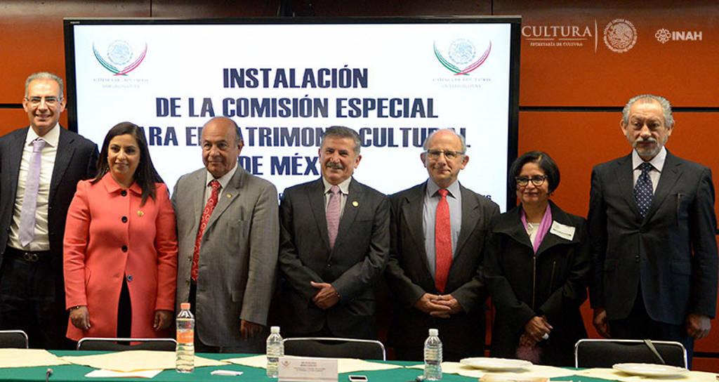 Instalación de la Comisión Especial para el Patrimonio Cultural de México : Foto © Héctor Montaño INAH
