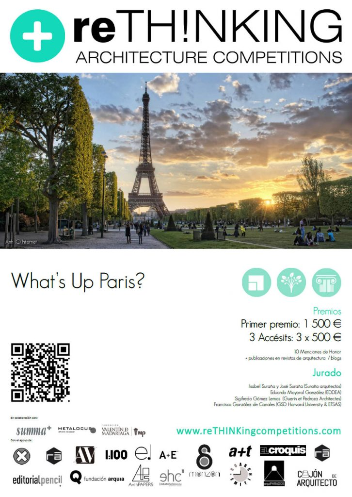 Concurso #010 What's up Paris? : Poster © reTHINKing Architecture Competitions