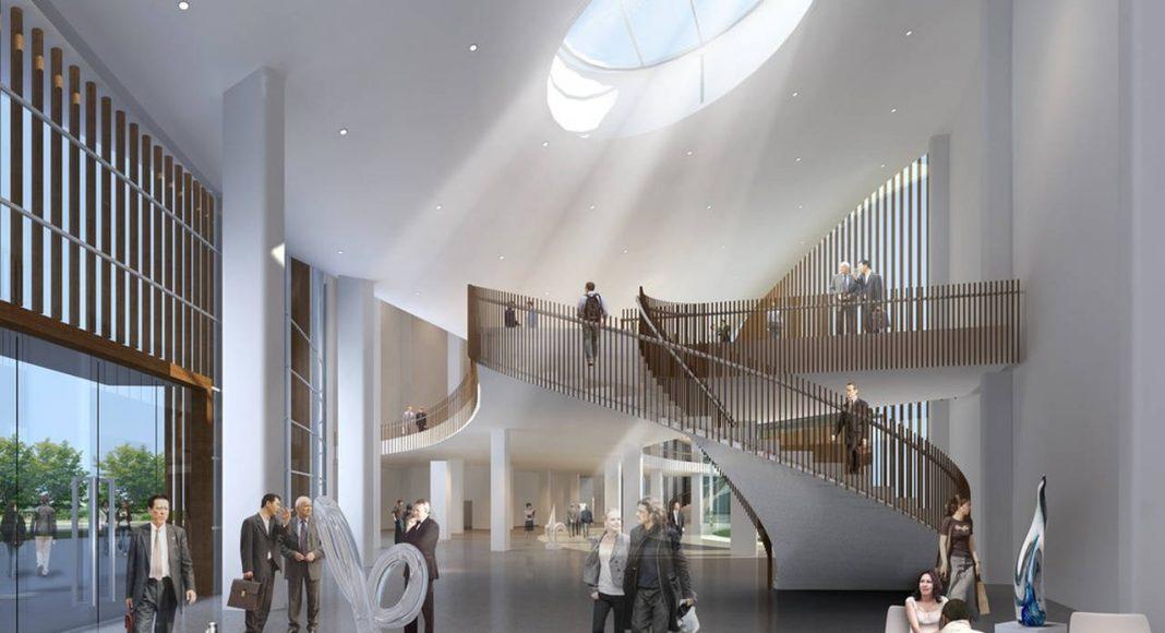Lobby - Auction Hall and Innovation Center : Photo credit © Project Team: Hui Jun Wang, Yuan-Sheng Chen, Florian Pucher, Milan Svatek, Christian Junge