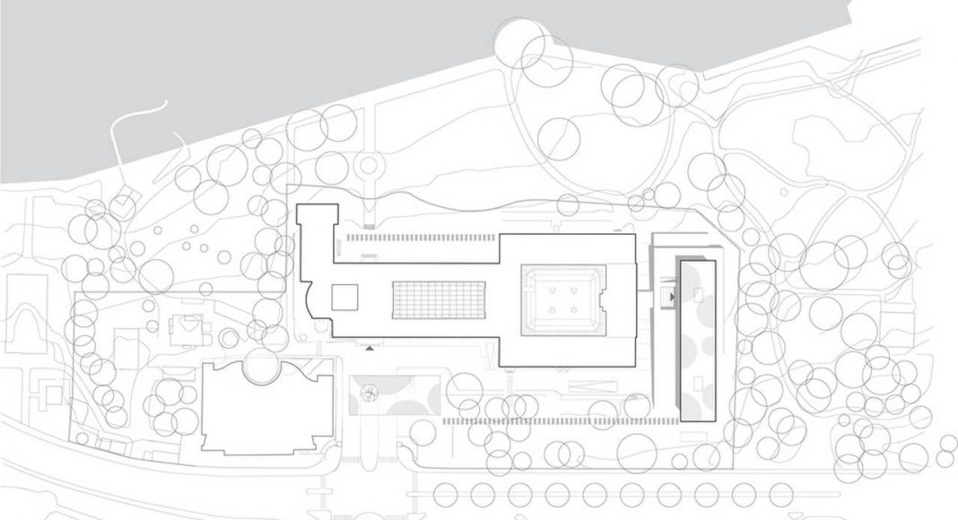 Site Plan World Trade Organization in Genève, Switzerland : Photo credit: Wittfoht Architekten