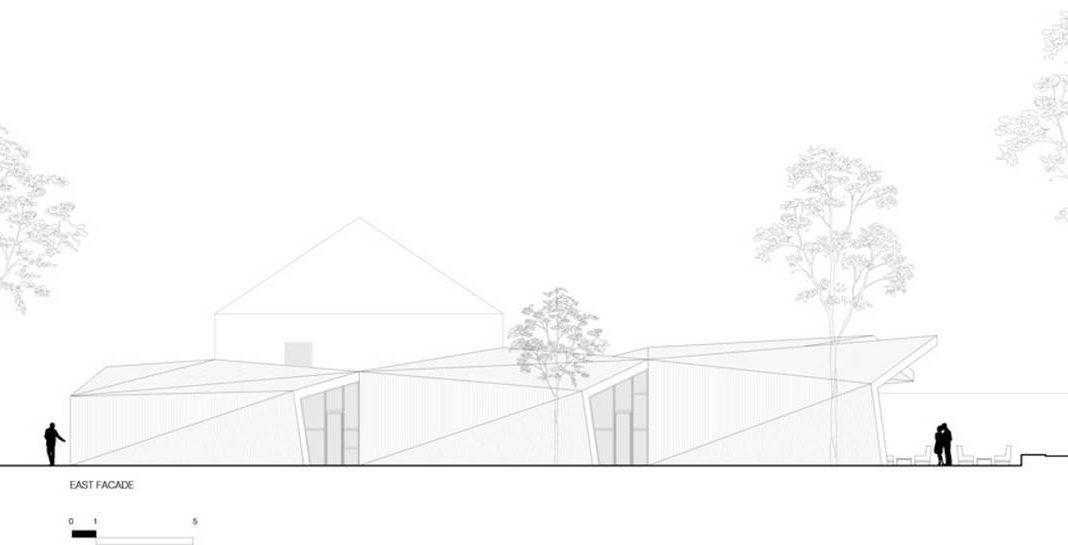 Restaurante BOOS Beach Club Fachada en Bridel, Luxemburgo by Metaform Architects : Drawing © Metaform Architects
