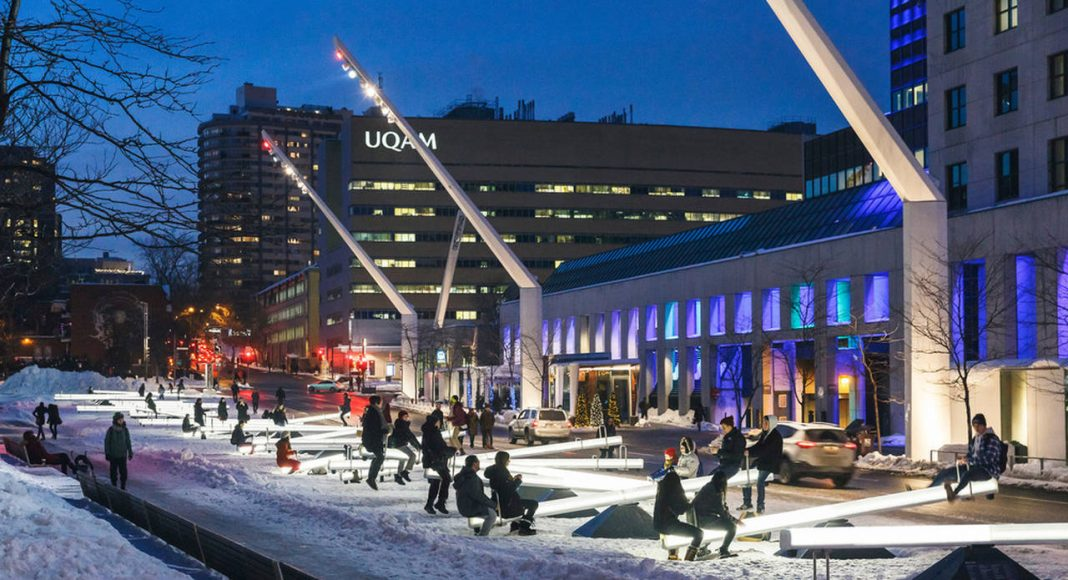 Impulse, by Lateral Office and CS Design. Place des Festivals, Quartier des spectacles, Montreal : Photo credit © Ulysse Lemerise / OSA images