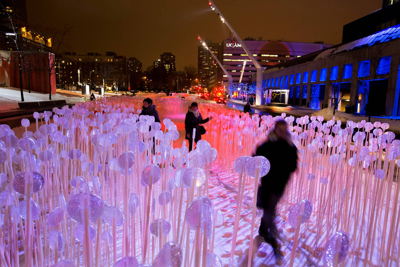 Entre les rangs, Place des Festivals, Quartier des Spectacles, Montreal : Photo credit © Martine Doyon