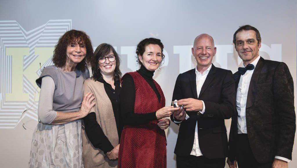 (left to right) Kristin Feireiss (Aedes Architecture Forum), Nathalie de Vries (Chairperson BNAKubus), Caroline Bos, Ben van Berkel, Fred Schoorl (Director BNA) : Photo ©JustJusta Photography