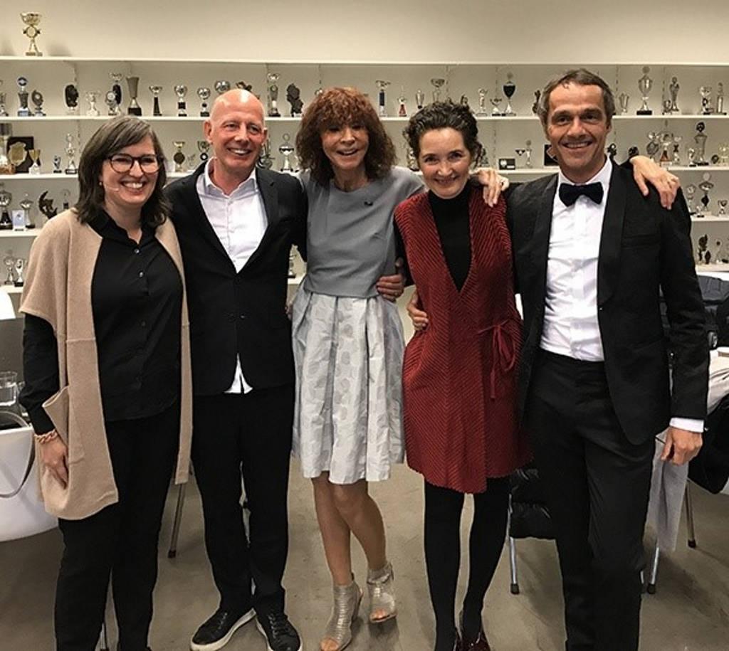 Nathalie de Vries, Ben van Berkel, Kristin Feireiss, Caroline Bos and Fred Schoorl : Photo © UNStudio