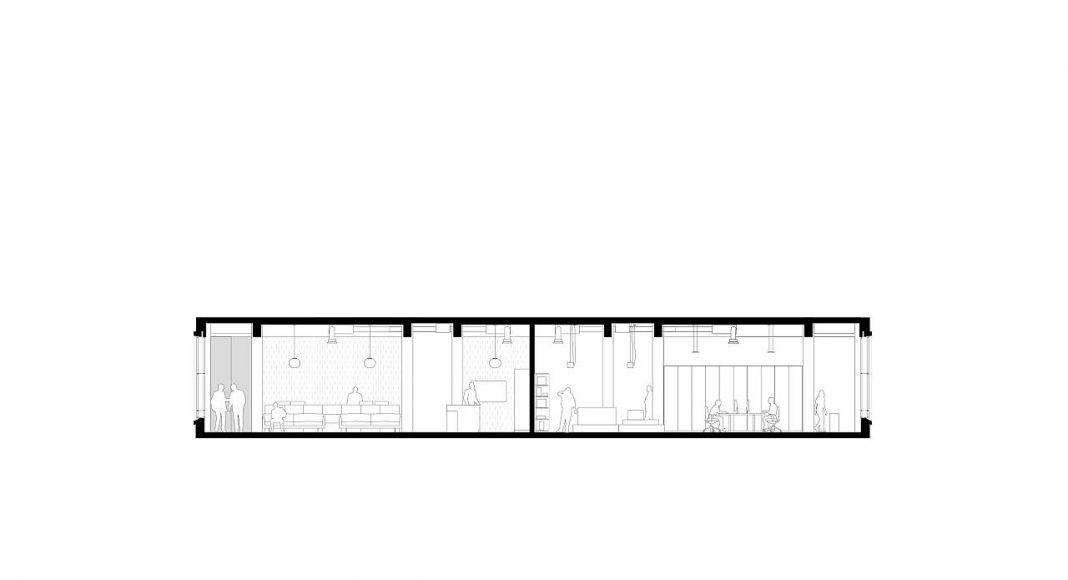 De Bank by KAAN Architecten Cross Section : Drawing © KAAN Architecten