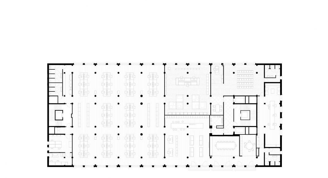 De Bank by KAAN Architecten Floor Plan : Drawing © KAAN Architecten