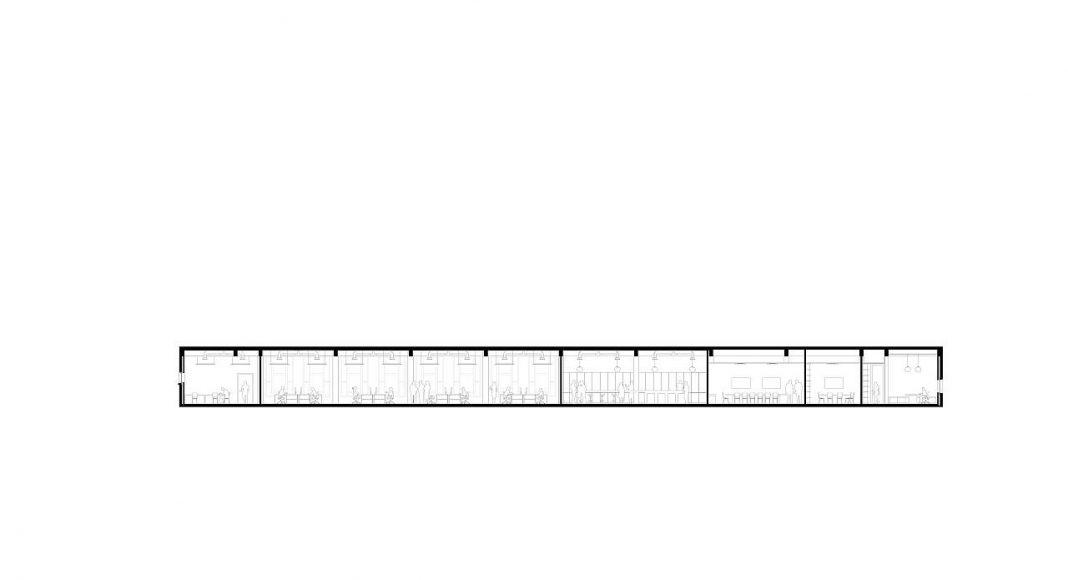 De Bank by KAAN Architecten Longitudinal Section : Drawing © KAAN Architecten
