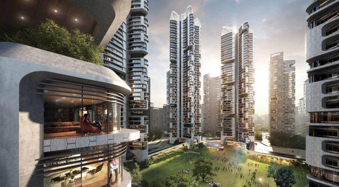 Eunma Housing Development in Seoul by Ben van Berkel / UNStudio and Heerim : Render © UNStudio and © Heerim