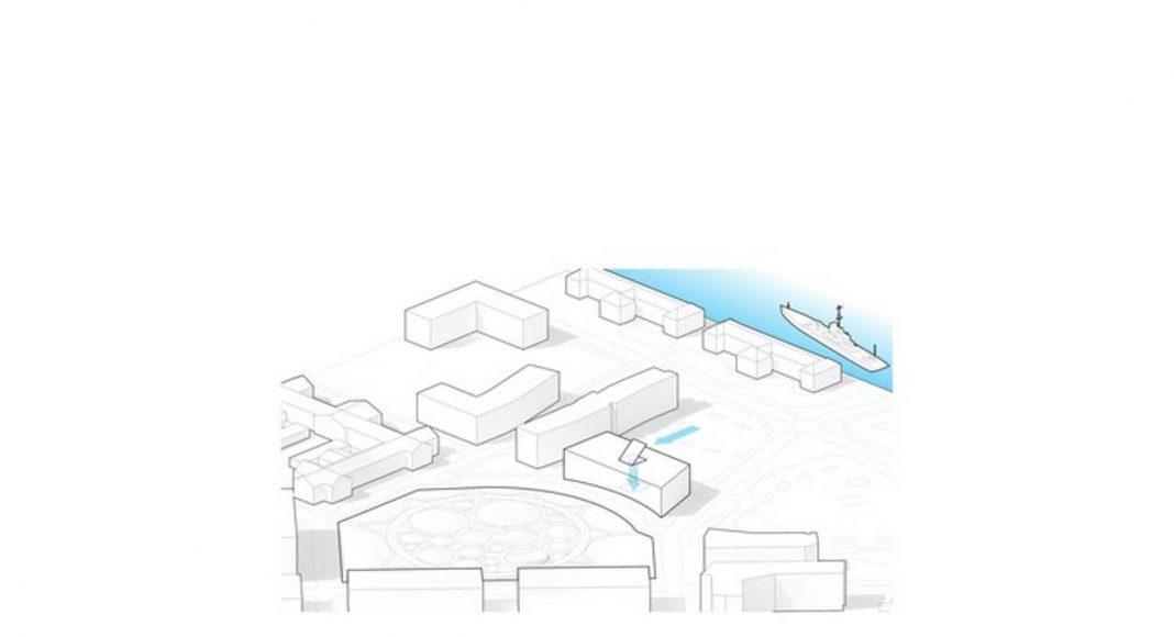 1200 Intrepid in Philadelphia Naval Yard designed by BIG : Drawing © BIG - Bjarke Ingels Group