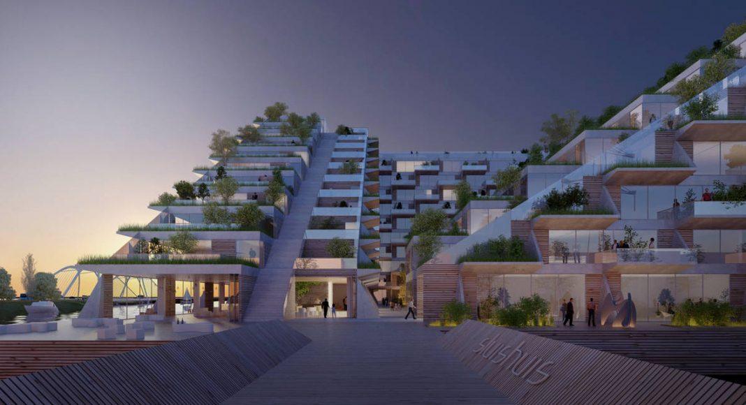 Sluishuis Apertura en Amsterdam por BIG y BARCODE Architects : Render © BIG