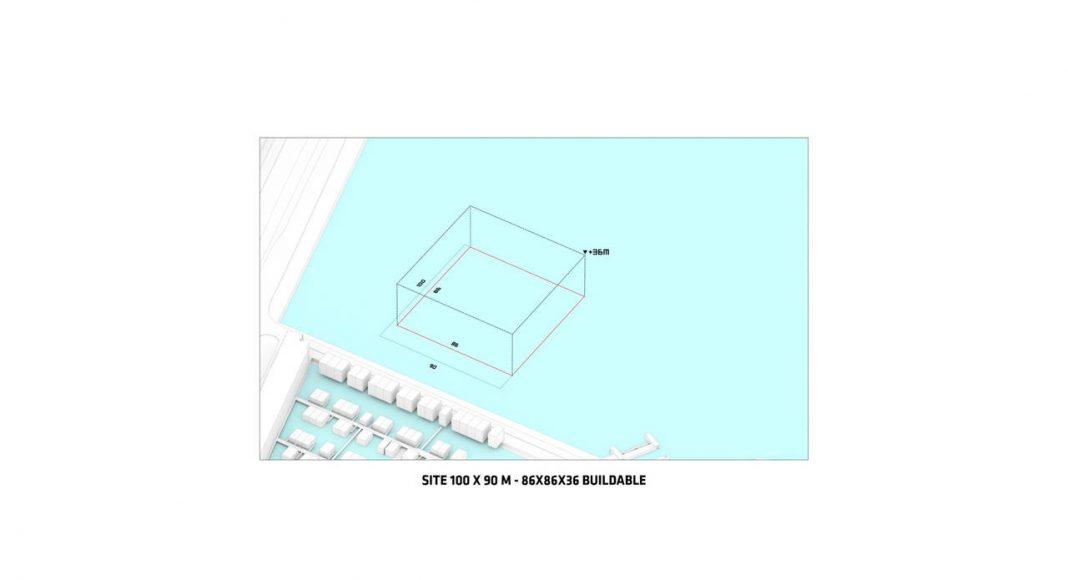 Sluishuis Área Edificable en Amsterdam por BIG y BARCODE Architects : Drawing © BIG