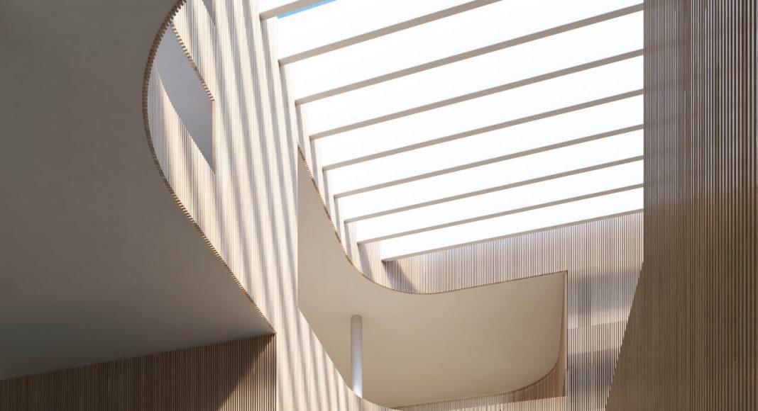 New Shanghai Library Interior in Shanghai, China by Schmidt Hammer Lassen Architects : Render ©Schmidt Hammer Lassen Architects