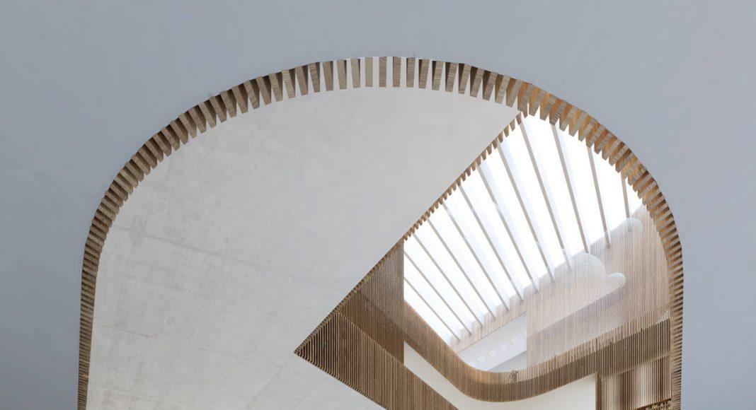New Shanghai Library Interior in Shanghai, China by Schmidt Hammer Lassen Architects : Render © Schmidt Hammer Lassen Architects