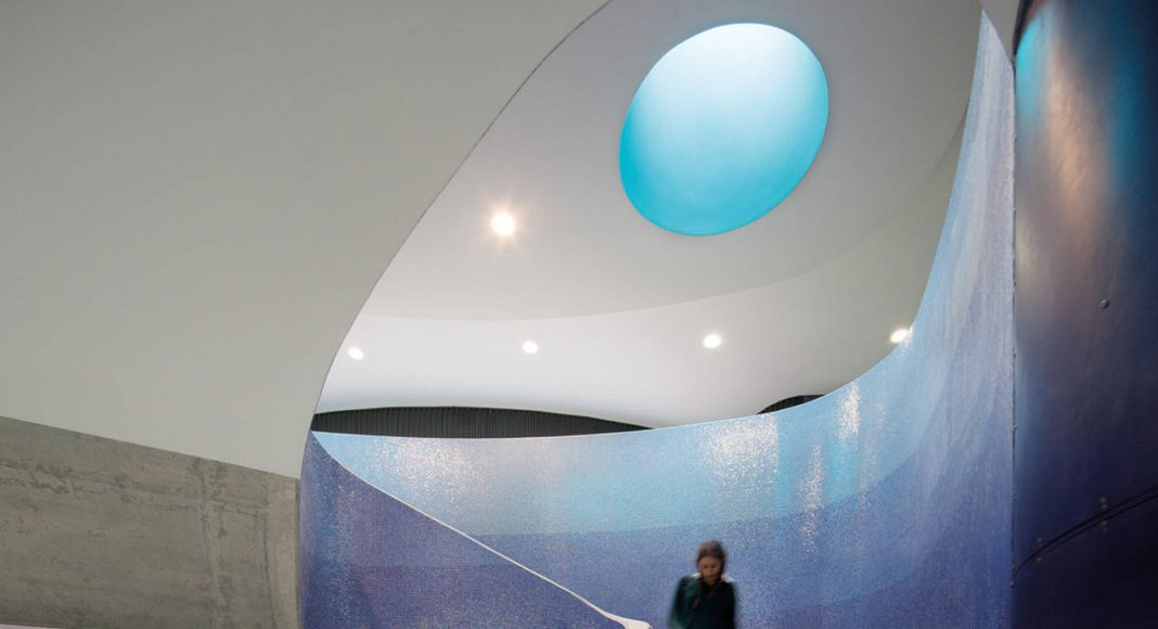 The Infinity Centre Main Spiral Staircase by McBride Charles Ryan : Photo credit © John Gollings