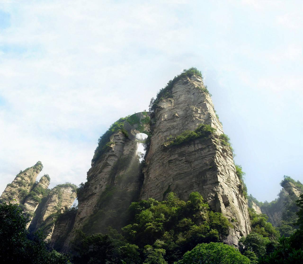 Zhangjiajie en Zhangjiajie Shi, China por Martin Duplantier Architectes : Photo credit: © Martin Duplantier Architectes