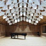 Jazz Campus Performance Room with Wooden Soundbody en Basilea, Suiza diseñado por Buol&Zünd : Photo credit © Georg Aerni