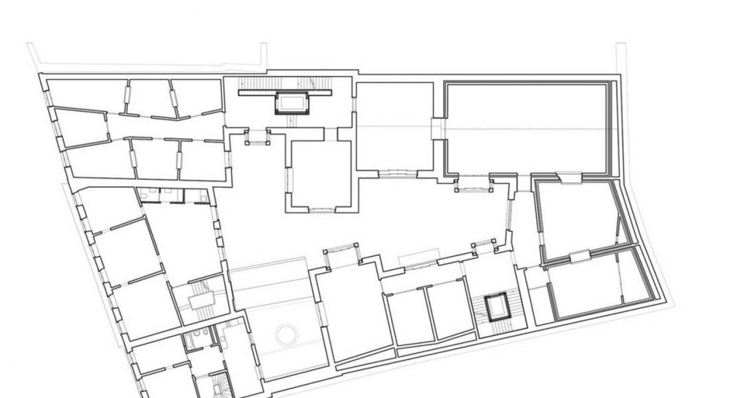 Jazz Campus Architecture Plan and Facade en Basilea, Suiza diseñado por Buol & Zünd : Photo credit © Buol & Zünd