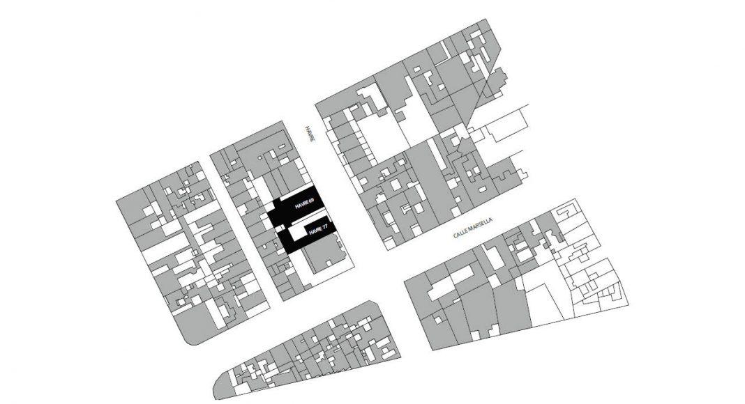 Havre 77 Planta de Conjunto por el estudio Francisco Pardo Arquitecto : Dibujo © Francisco Pardo Arquitecto