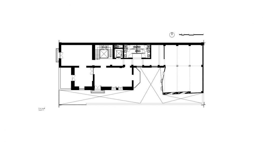 Havre 77 Planta Primer Nivel por el estudio Francisco Pardo Arquitecto : Dibujo © Francisco Pardo Arquitecto