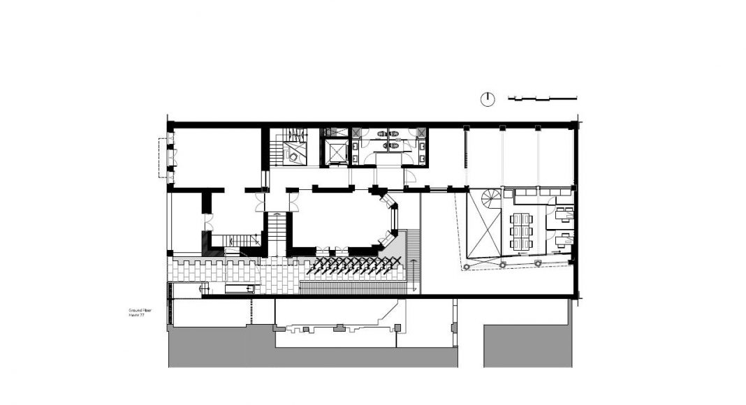 Havre 77 Planta Baja por el estudio Francisco Pardo Arquitecto : Dibujo © Francisco Pardo Arquitecto