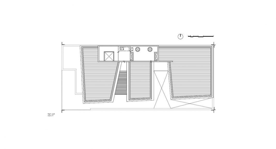 Havre 77 Planta Azotea por el estudio Francisco Pardo Arquitecto : Dibujo © Francisco Pardo Arquitecto