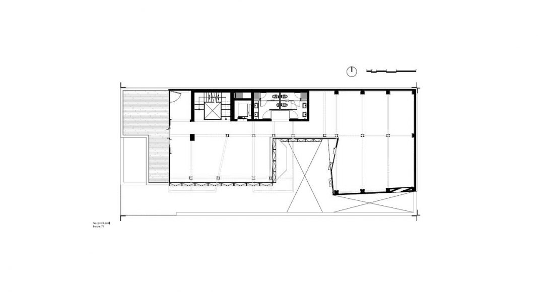 Havre 77 Planta Segundo Nivel por el estudio Francisco Pardo Arquitecto : Dibujo © Francisco Pardo Arquitecto