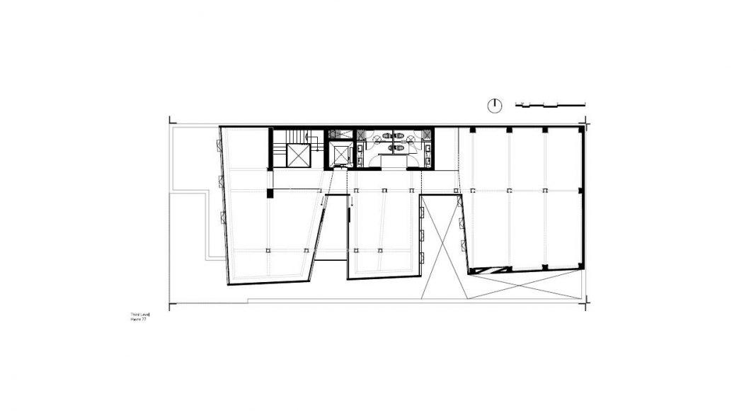 Havre 77 Planta Tercer Nivel por el estudio Francisco Pardo Arquitecto : Dibujo © Francisco Pardo Arquitecto