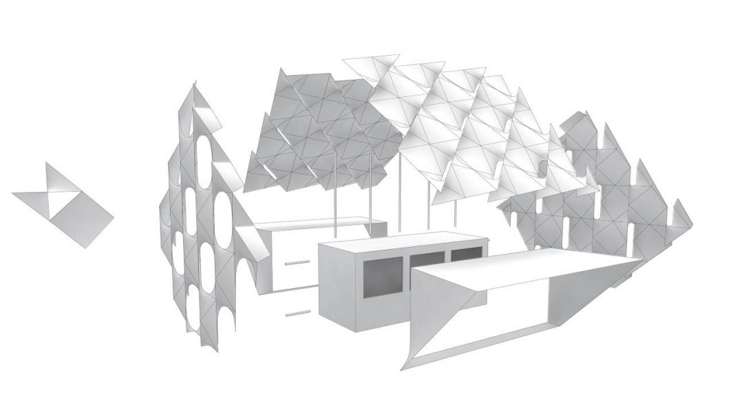Eye_Beacon Pavilion Exploded for the Amsterdam Light by UNStudio and MDT-tex : Diagram © UNStudio and © MDT-tex