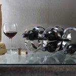 Ribbon Wine Rack, designed by Ben van Berkel / UNStudio for Alessi : Photo courtesy of © Alessi