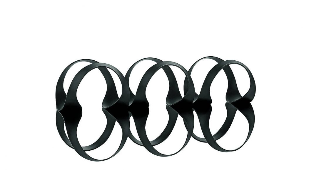 Ribbon Wine Rack, designed by Ben van Berkel / UNStudio for Alessi : Photo © Alessandro Milani