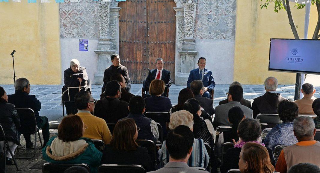 Por su parte, fray Roberto Rosas agradeció a todas las instancias que hicieron posible se restaurara y conservara el Templo de La Conchita : Foto © FSM, CONACULTA