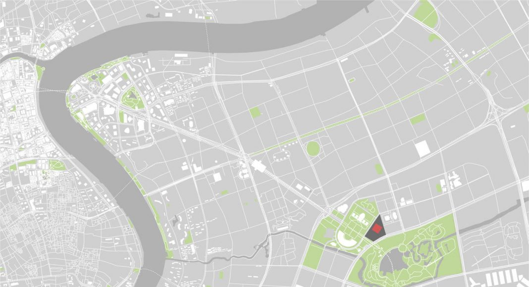 Shanghai Library Site Map in Shanghai, China by Schmidt Hammer Lassen Architects : Drawing © Schmidt Hammer Lassen Architects