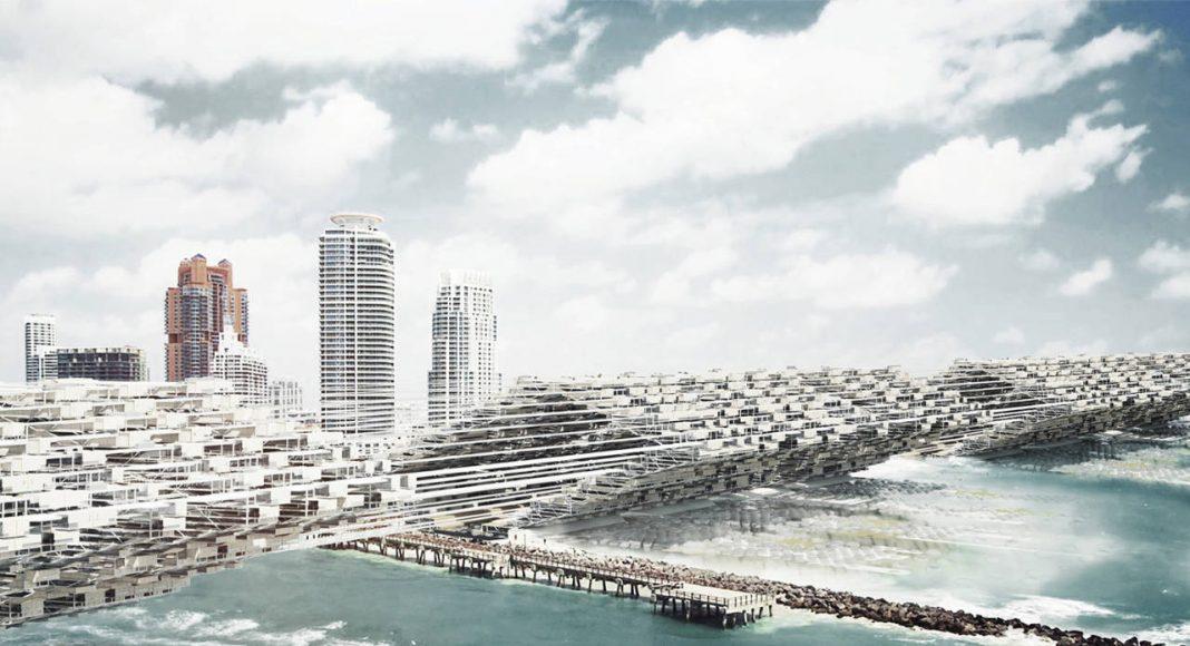 "Laka Competition 2016 Honorable Mention Five ""Drift City: Architecture's Reaction to Sea Level Rise"" por mcdowellespinosa: Seth McDowell, Rychiee Espinosa, and Brad Brogdon : Render courtesy of © Laka Architektura"