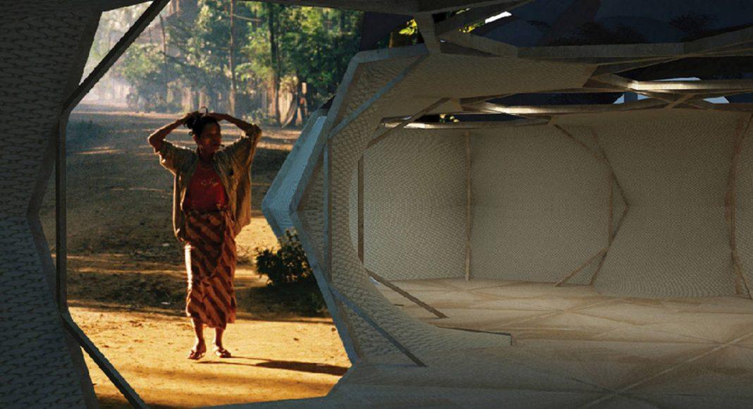 "Laka Competition 2016 Honorable Mention Two ""Hexapods: a new vernacular architecture"" por Maricruz Miranda-López, Sofía Amodio-Bernal, and Bridget Munro : Render courtesy of © Laka Architektura"