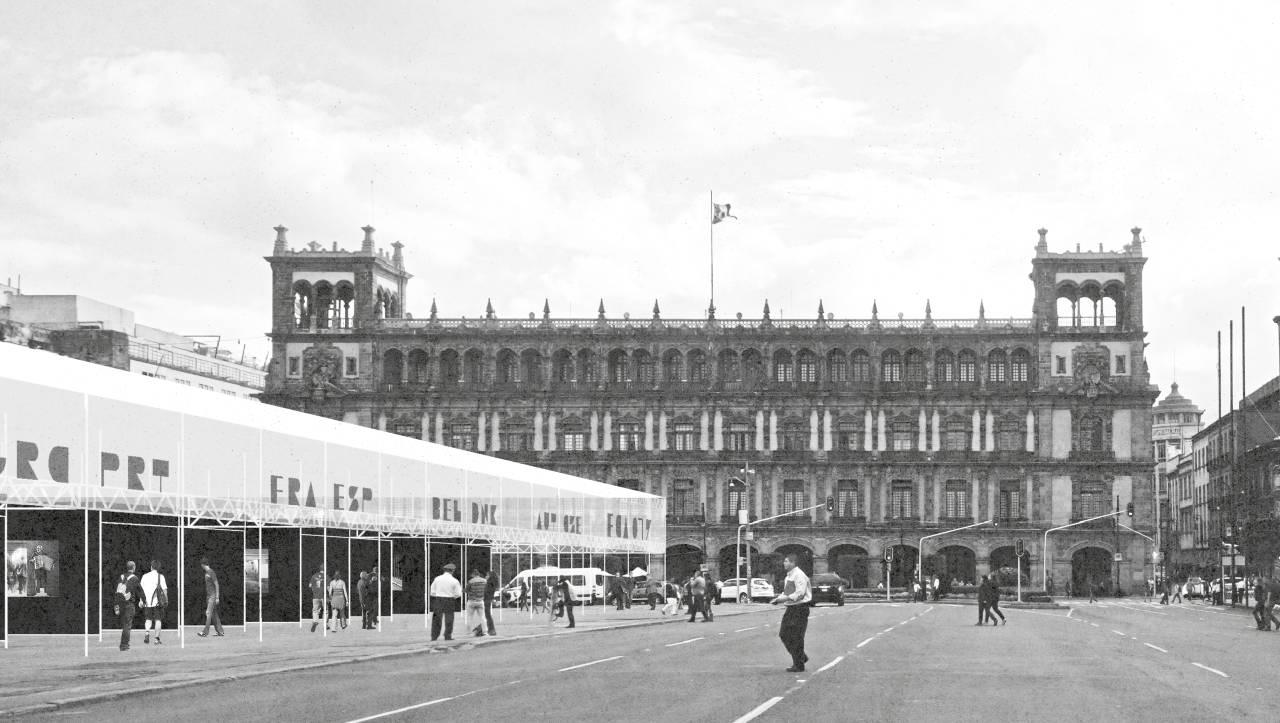Convocatoria Concurso Feria de las Culturas Amigas 2017 TERCER LUGAR: Escobedo Soliz : Render © Escobedo Soliz, cortesía de © LIGA