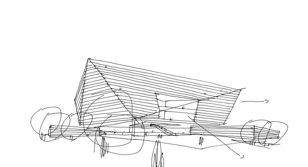 Shanghai Library Sketch in Shanghai, China by Schmidt Hammer Lassen Architects : Sketch © Schmidt Hammer Lassen Architects