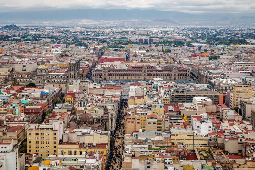 Vista aérea de la Ciudad de México - México vía Shutterstock