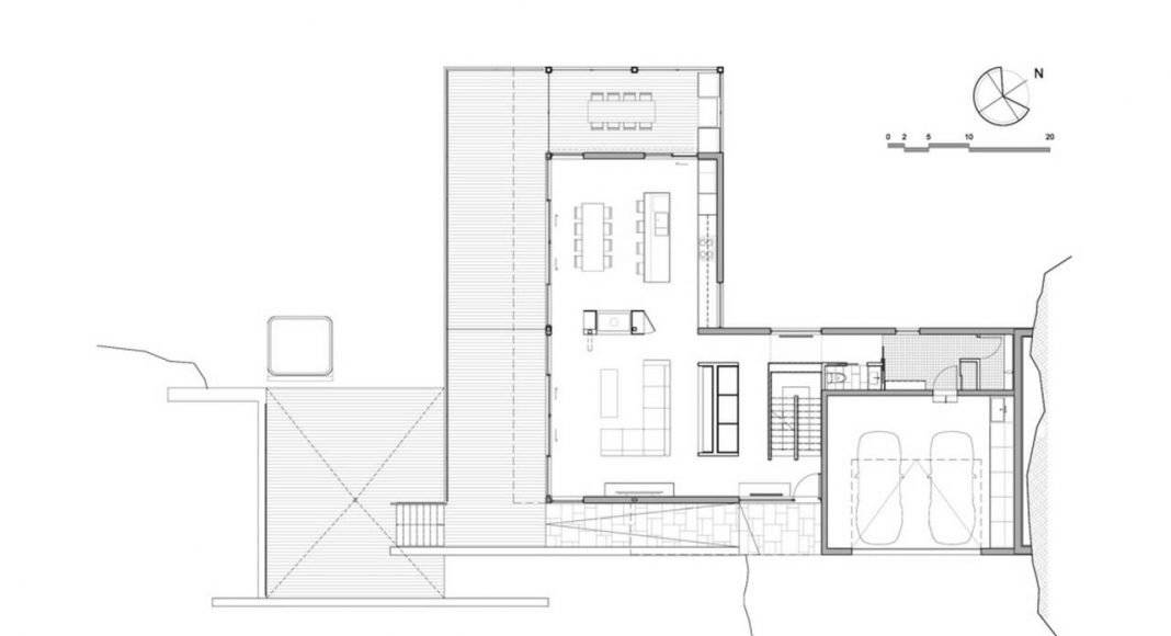 Residencia L'Estrade en Saint-Adolphe-d'Howard by MU Architecture : Drawings © MU Architecture