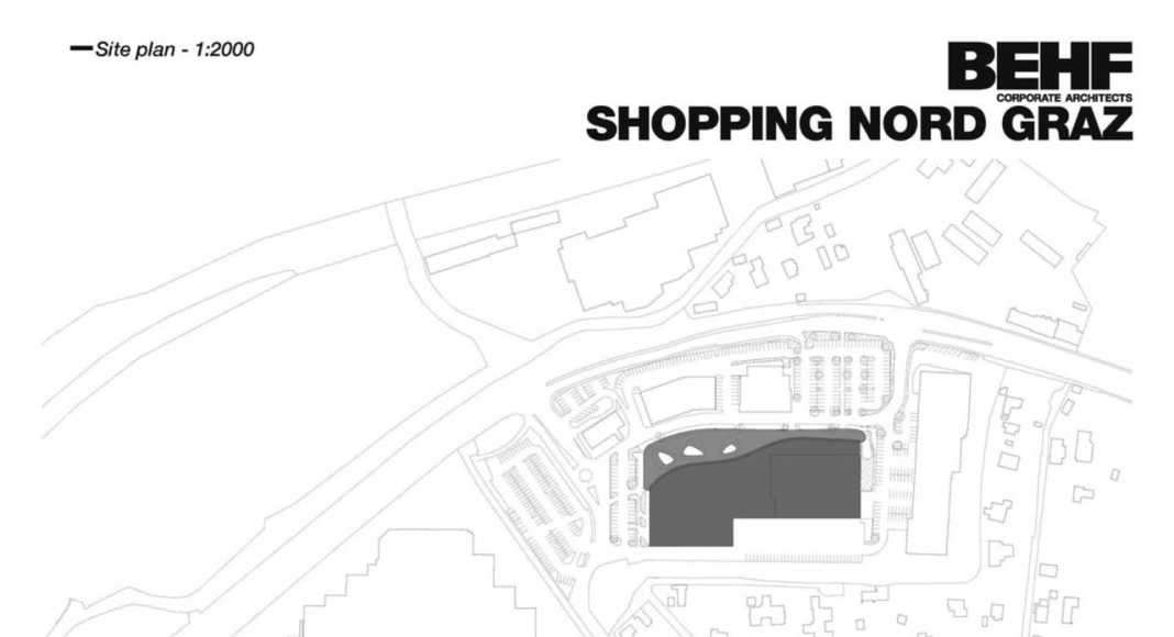 Shopping Center Nord Graz Site plan : Photo credit © BEHF Corporate Architects