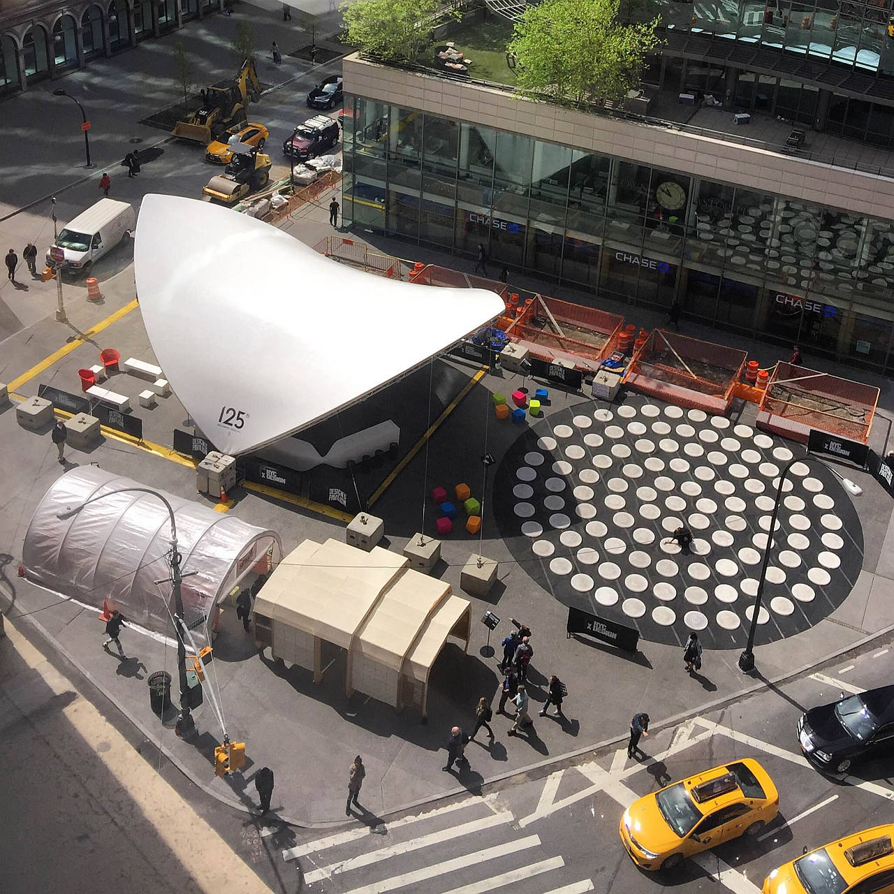 Design Pavilion 2016 en Cooper Square Aerial View : Photo courtesy of © Susan Grant Lewin Associates